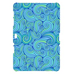 Abstract Blue Wave Pattern Samsung Galaxy Tab 10.1  P7500 Hardshell Case