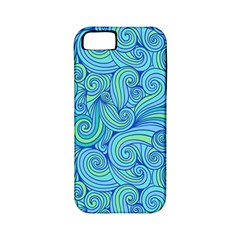 Abstract Blue Wave Pattern Apple iPhone 5 Classic Hardshell Case (PC+Silicone)