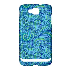Abstract Blue Wave Pattern Samsung Ativ S i8750 Hardshell Case