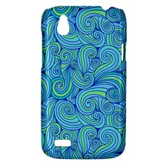 Abstract Blue Wave Pattern HTC Desire V (T328W) Hardshell Case