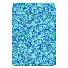 Abstract Blue Wave Pattern Flap Covers (L)