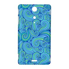 Abstract Blue Wave Pattern Sony Xperia TX