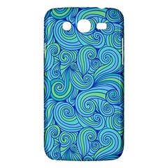 Abstract Blue Wave Pattern Samsung Galaxy Mega 5.8 I9152 Hardshell Case