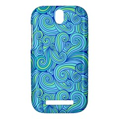 Abstract Blue Wave Pattern HTC One SV Hardshell Case