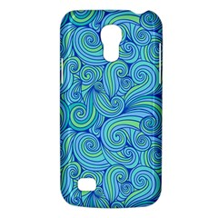 Abstract Blue Wave Pattern Galaxy S4 Mini