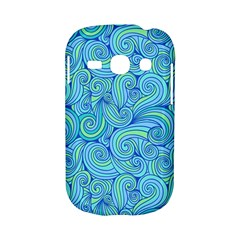 Abstract Blue Wave Pattern Samsung Galaxy S6810 Hardshell Case