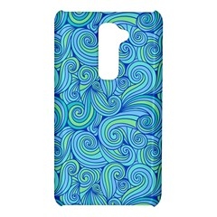 Abstract Blue Wave Pattern LG G2