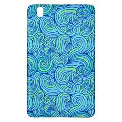 Abstract Blue Wave Pattern Samsung Galaxy Tab Pro 8.4 Hardshell Case
