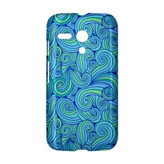 Abstract Blue Wave Pattern Motorola Moto G