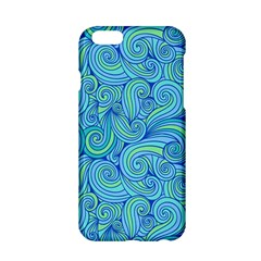 Abstract Blue Wave Pattern Apple iPhone 6/6S Hardshell Case