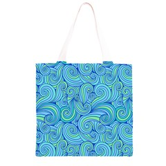 Abstract Blue Wave Pattern Grocery Light Tote Bag