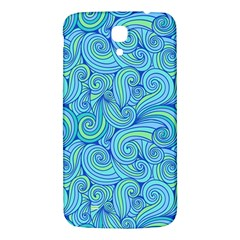 Abstract Blue Wave Pattern Samsung Galaxy Mega I9200 Hardshell Back Case