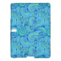 Abstract Blue Wave Pattern Samsung Galaxy Tab S (10 5 ) Hardshell Case