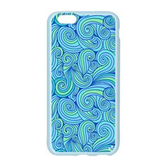 Abstract Blue Wave Pattern Apple Seamless iPhone 6/6S Case (Color)