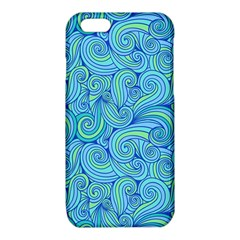Abstract Blue Wave Pattern iPhone 6/6S TPU Case