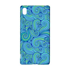 Abstract Blue Wave Pattern Sony Xperia Z3+