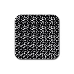 Animal Texture Skin Background Rubber Square Coaster (4 pack)