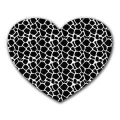 Animal Texture Skin Background Heart Mousepads