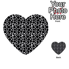 Animal Texture Skin Background Multi Purpose Cards (heart)