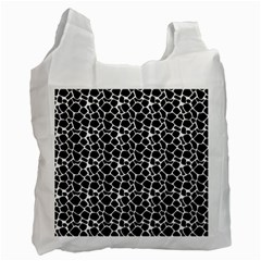 Animal Texture Skin Background Recycle Bag (two Side)
