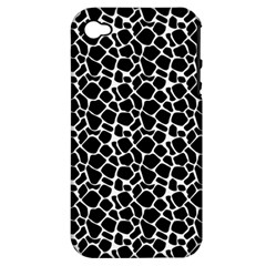 Animal Texture Skin Background Apple Iphone 4/4s Hardshell Case (pc+silicone)