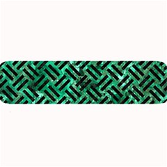 Woven2 Black Marble & Green Marble (r) Large Bar Mat