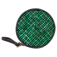 Woven2 Black Marble & Green Marble (r) Classic 20 Cd Wallet