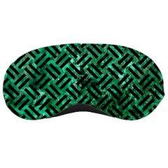 Woven2 Black Marble & Green Marble (r) Sleeping Mask