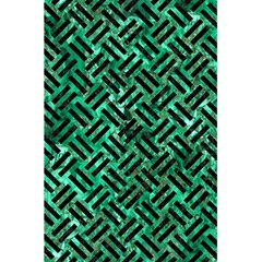 Woven2 Black Marble & Green Marble (r) 5 5  X 8 5  Notebook