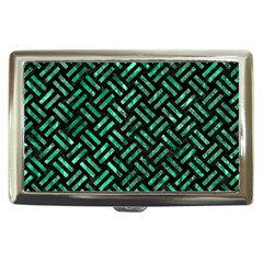 Woven2 Black Marble & Green Marble Cigarette Money Case