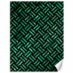 Woven2 Black Marble & Green Marble Canvas 36  X 48
