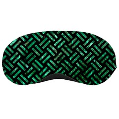 Woven2 Black Marble & Green Marble Sleeping Mask