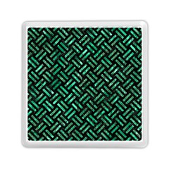 Woven2 Black Marble & Green Marble Memory Card Reader (square)
