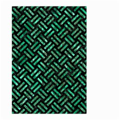 Woven2 Black Marble & Green Marble Small Garden Flag (two Sides)