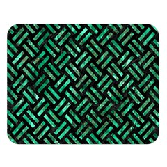Woven2 Black Marble & Green Marble Double Sided Flano Blanket (large)