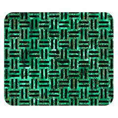 Woven1 Black Marble & Green Marble (r) Double Sided Flano Blanket (small)