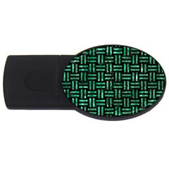 Woven1 Black Marble & Green Marble Usb Flash Drive Oval (2 Gb)