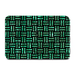 Woven1 Black Marble & Green Marble Plate Mat