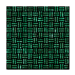Woven1 Black Marble & Green Marble Face Towel