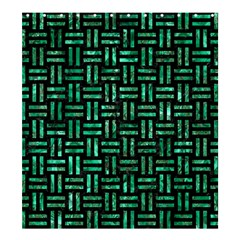 Woven1 Black Marble & Green Marble Shower Curtain 66  X 72  (large)