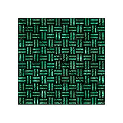 Woven1 Black Marble & Green Marble Acrylic Tangram Puzzle (4  X 4 )