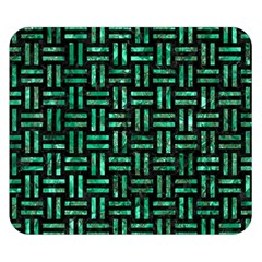 Woven1 Black Marble & Green Marble Double Sided Flano Blanket (small)