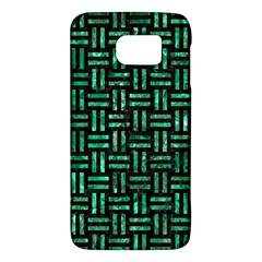 Woven1 Black Marble & Green Marble Samsung Galaxy S6 Hardshell Case