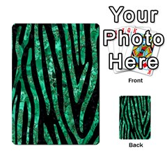 Skin4 Black Marble & Green Marble (r) Multi Purpose Cards (rectangle)