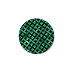 Houndstooth2 Black Marble & Green Marble Golf Ball Marker