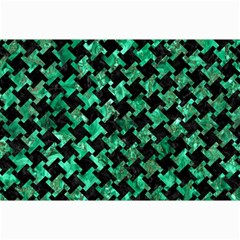 Houndstooth2 Black Marble & Green Marble Collage 12  X 18