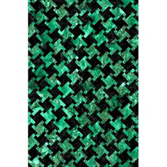 Houndstooth2 Black Marble & Green Marble 5 5  X 8 5  Notebook