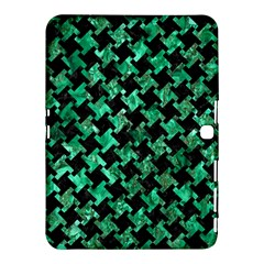 Houndstooth2 Black Marble & Green Marble Samsung Galaxy Tab 4 (10 1 ) Hardshell Case