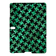 Houndstooth2 Black Marble & Green Marble Samsung Galaxy Tab S (10 5 ) Hardshell Case