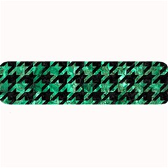 Houndstooth1 Black Marble & Green Marble Large Bar Mat